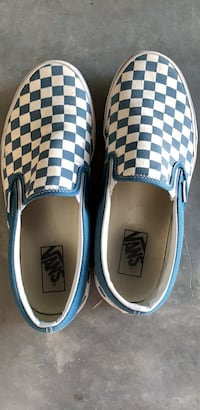 Blue checkered vans wore once size 9 Chesapeake, 23323