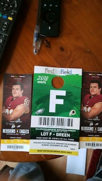 Redskins tickets with parking  Burke, 22015