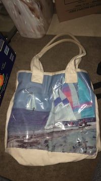 blue and white tote bag San Diego, 92111
