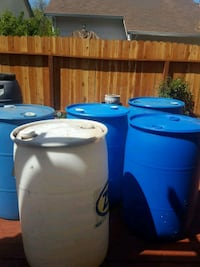 5 blue 1 white 1 grey 55 gallon water container Vallejo, 94591