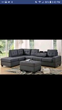 New grey thick microfiber sectional and ottoman  Austin, 78726