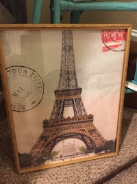 Eiffel Tower poster with brown wooden frame Des Moines, 98198