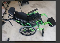 black and green wheelchair