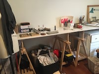 Sawhorse desk work table Toronto, M6H 1G6