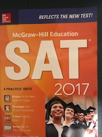 4 brand new unused SAT practice test books 2017 edition  Ashburn, 20148