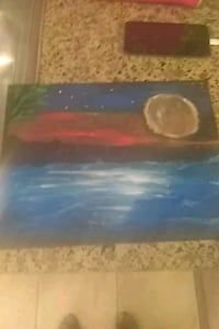 blue and red abstract painting Las Vegas, 89120