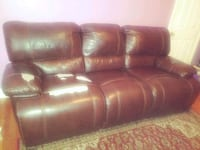 red leather 3-seat sofa Baltimore, 21225