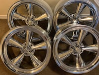 4 x BRAND NEW 20 INCH NEVER MOUNTED US MAG CHROME RIMS $$$850