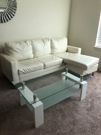 White small sectional sofa