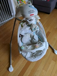 baby's white and gray cradle and swing Brampton, L6P