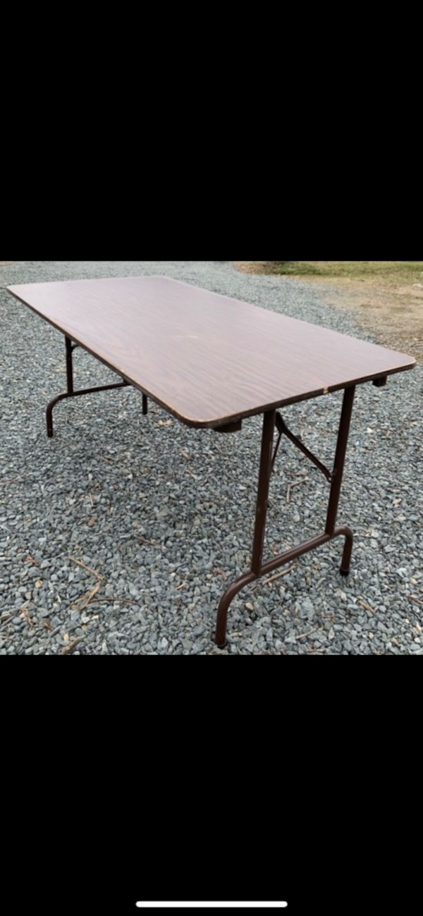 Used Rectangle Laminate Made In Usa Folding Kitchen Dining