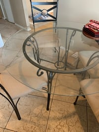 Glass kitchen table with 4 chairs Pikesville, 21208