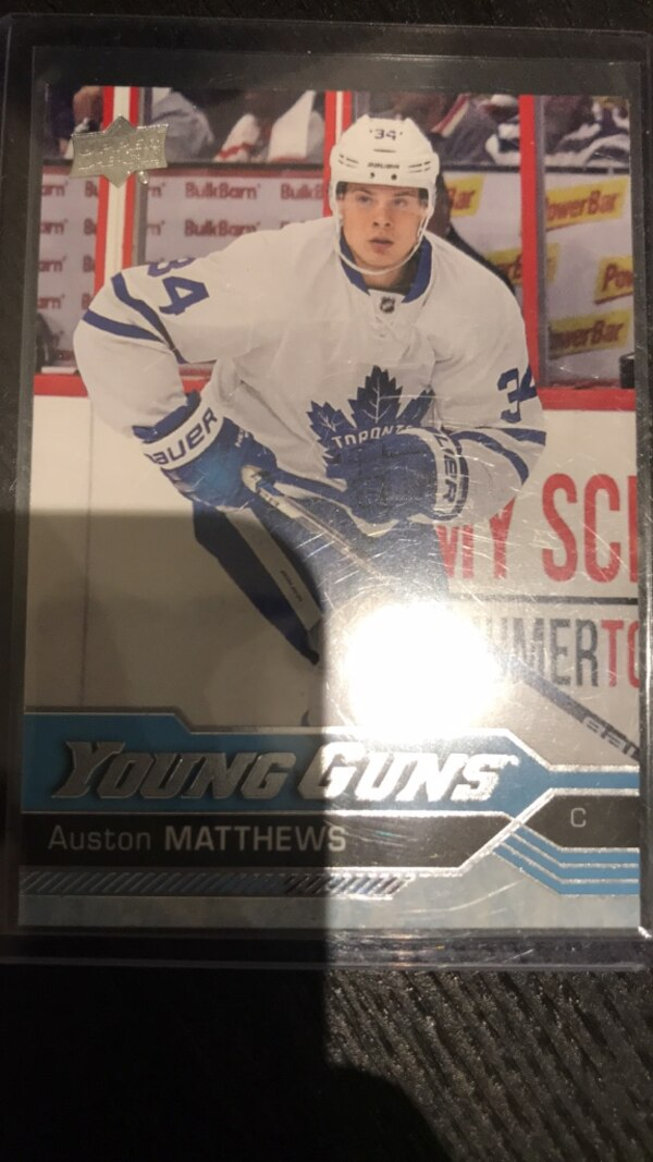 Auston Matthews Young Guns Rookie Card