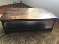 rectangular brown wooden coffee table Oliver, V0H 1T0