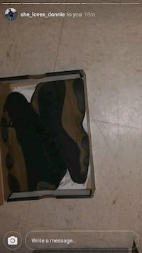 black and gray Nike basketball shoes in box Fayetteville, 28312