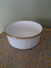 white and brown ceramic bowl Laval, H7W 2R8