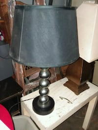 Black and silver lamp