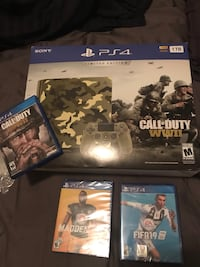 PS4 tb with unopened games (3) Rosemead, 91770