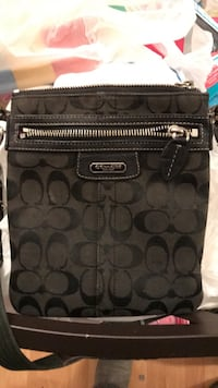 Black and gray coach monogram crossbody bag Elk Grove Village, 60007