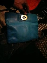 blue and black leather tote bag Brooklyn, 11203