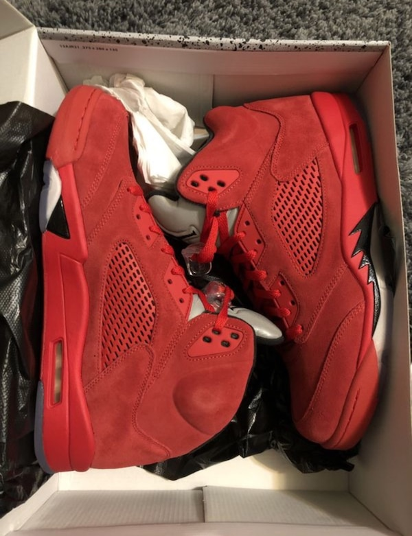Nike Air Jordan Retro 5 Red Suede Deadstock size 13