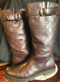 Gucci Maude brown Guccissima leather riding boots size 40 Vancouver, V6A