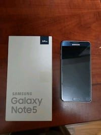 black Samsung Galaxy Note 5 with box 552 km