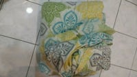 yellow, blue, and green floral comforter set. Markham, L3S 4G7