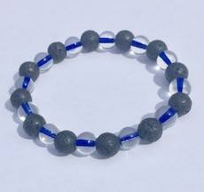 gray and blue marble bracelet