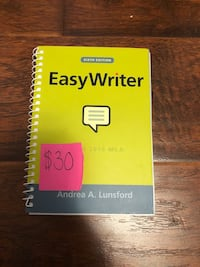 EASY WRITER SIXTH EDITION- MINT CONDITION