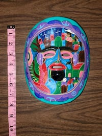 Handpainted Mexican Clay Mask Delta, V4C 2X5