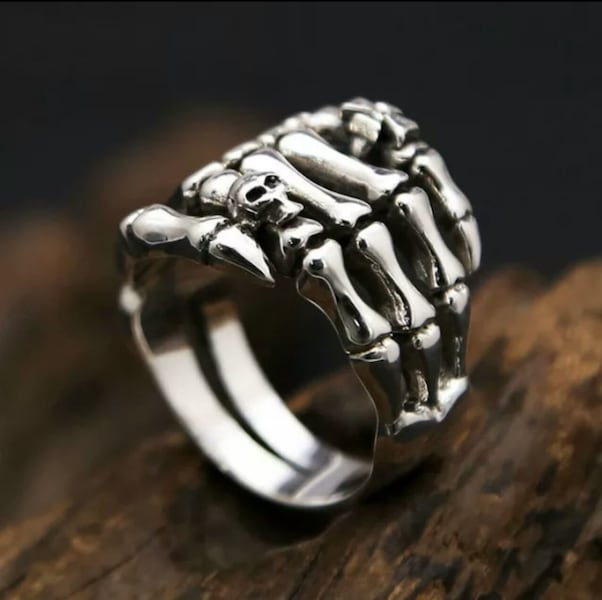 (Shipped Only) Real 925 Sterling Silver Cross Skull Ghost Claws Ring 81eb349c-bc7c-49ff-9b94-3a2953fc2004