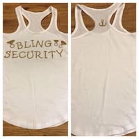 Bling Security Tank Top-Size Small Farmers Branch, 75244