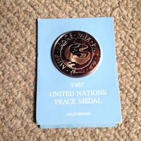 1987 United Nations Peace Medal Peabody, 01960