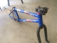 blue and black bicycle frame 2258 mi