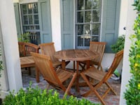 TEAK TABLE AND CHAIRS.  Newport Beach, 92625