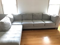 Large Light Blue L-Shaped Couch Abingdon