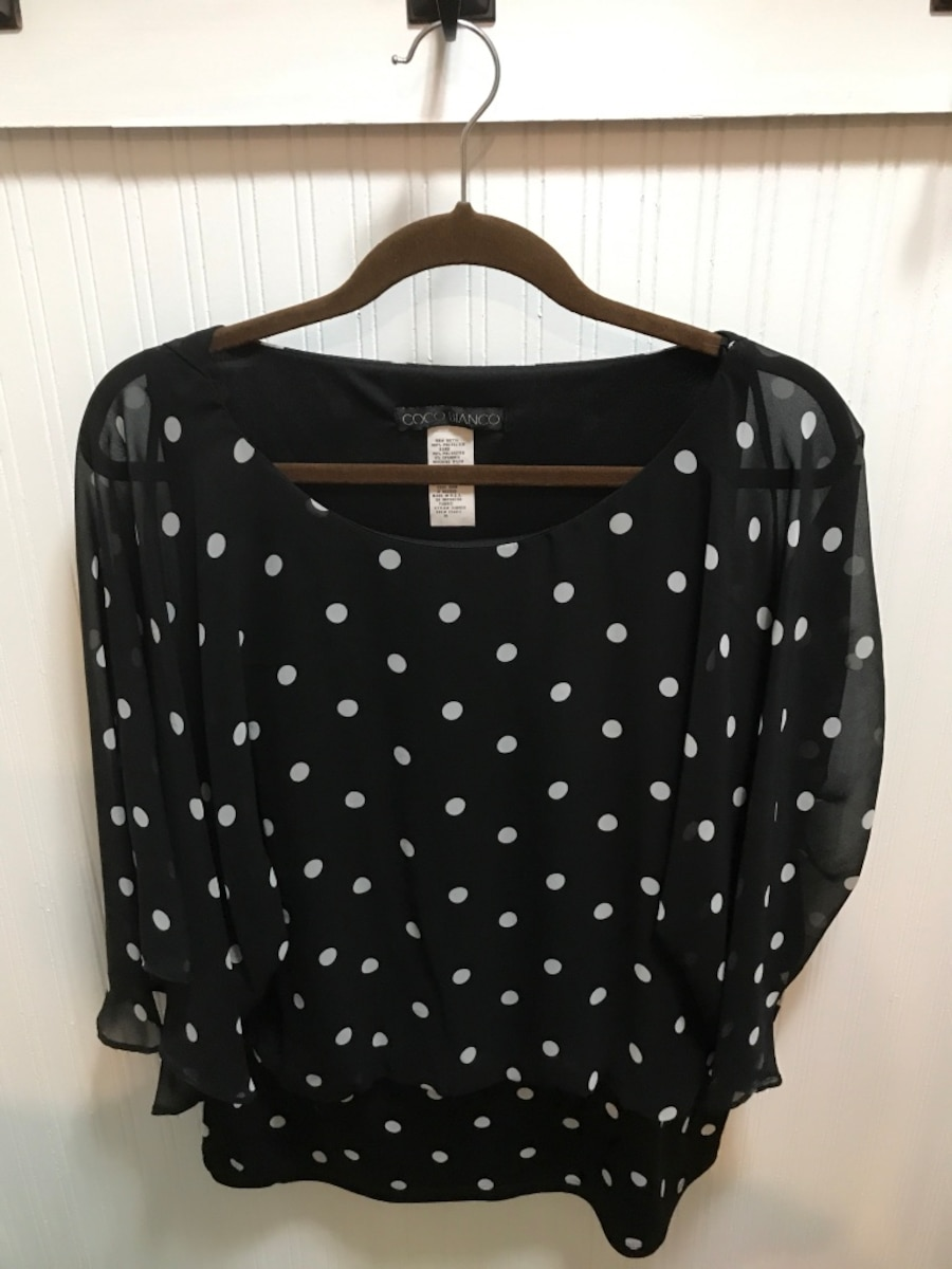 women's black blouse - TX