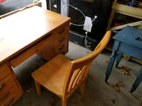 brown wooden table with chairs Delmar, 12054
