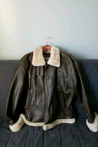Leather Bomber Jacket EXTRA WARM! Owings Mills