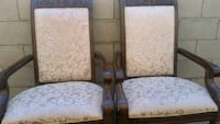 Chairs real wood, large, sturdy $30 for the pair Las Vegas, 89104