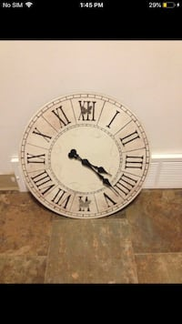 Over sized clock