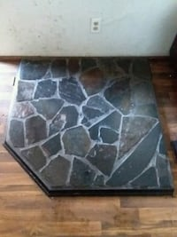 Blue marble or granite? hearth for a wood stove.  Grants Pass, 97526