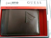 New- Guess card case/wallet, Brown NS Centreville, 20120