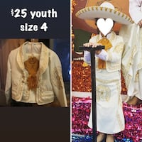 Mexican outfit size 4 youth - hat included Laredo, 78046