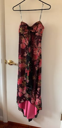 women's black and red floral sleeveless dress Fort Washington, 20744