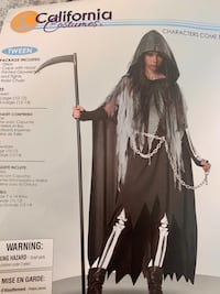 California Costumes. Miss Reaper. Lage (10-12 y.o) Vienna, 22180