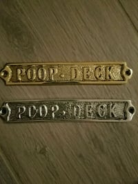 Poop Deck sign for nautical baby room.