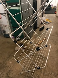 white and black metal clothes airer Edmonton, T5W