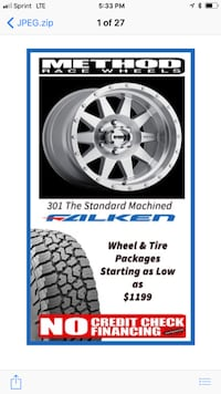 METHOD RACE Wheels  - All Styles - All Sizes -  Brand New In Stock -  Wheel & Tires Package Starting @ $1199  La Habra
